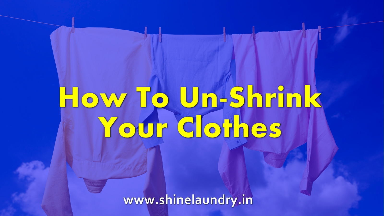 unshrink clothes Ever pulled a garment out of the dryer that suddenly would better fit a lanky tween than a grown adult? It's happened to the best of us. There are some tricks to unshrinking that favorite piece, although sometimes it's but a temporary fix. Still, it might help you to squeeze out a few more wears! One may even look for the best online laundry services in Bhubaneswar.
