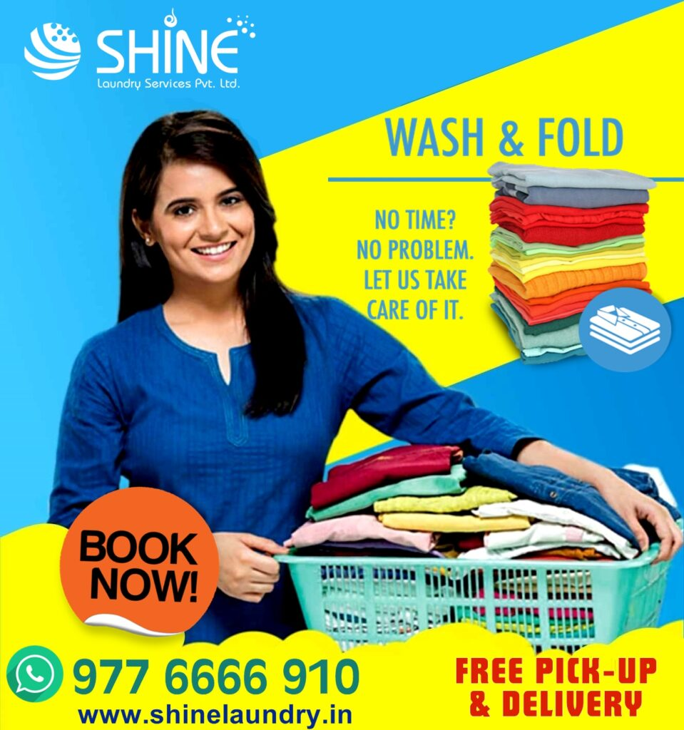 shine ads Shine Laundry Services provides premium washing and dry cleaning service leveraging mobile based technology. We pick up your dirty duds from your doorstep and deliver fresh, clean clothes back at your doorstep.
