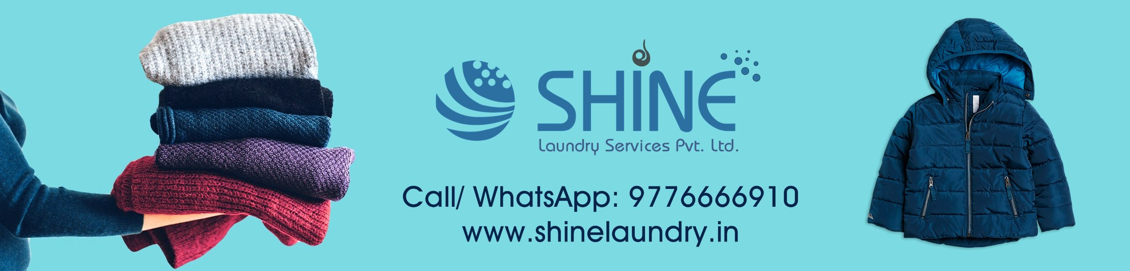 Winter Wear Laundry in Bhubaneswar – Shine Laundry Shine Laundry Services provides premium washing and dry cleaning service leveraging mobile based technology. We pick up your dirty duds from your doorstep and deliver fresh, clean clothes back at your doorstep.